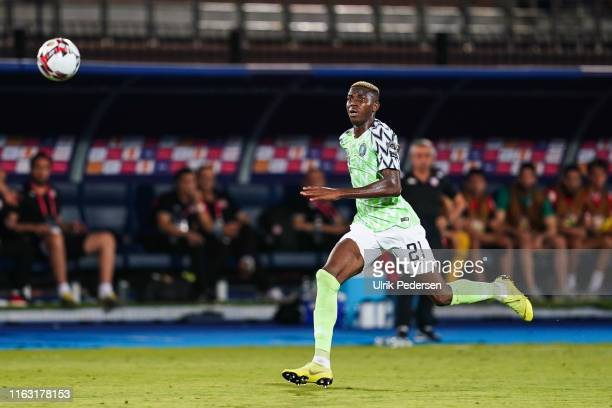 Victor James osimhen of Nigeria during the 3rd place African Nations Cup match between Tunisia and Nigeria on 14th July 2019. Photo : Ulrik Pedersen...