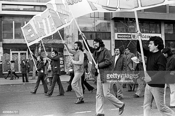 Victor Jara was one of Chile's most beloved artists. This might be his last photograph. It was taken in the last rally of the Allende government. A...