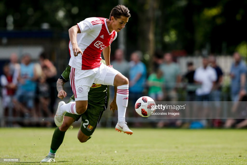 Victor Jensen of Ajax during the Club Friendly match between Ajax v FC Nordsjaelland at the Sportpark Putter Eng on July 7, 2018 in Putten Netherlands