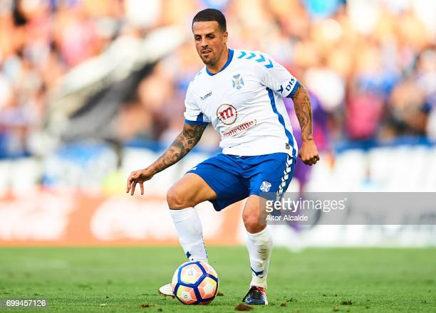 Victor Jode Anino 'Vitolo' of CD Tenerife in action during La Liga 2 play off round between CD Tenerife and Getafe CF at Heliodoro Rodriguez Lopez...
