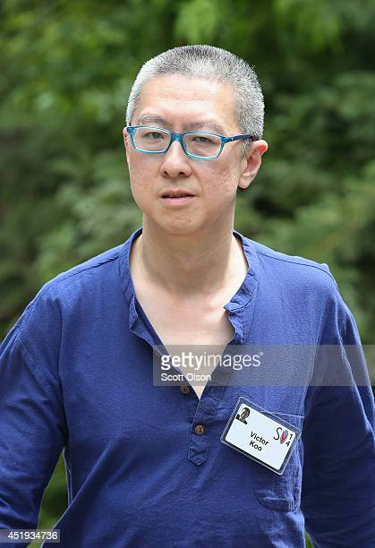 Victor Koo chairman and chief executive officer of Youku Tudou Inc attends the Allen Company Sun Valley Conference on July 9 2014 in Sun Valley Idaho...
