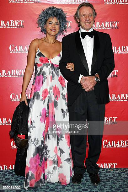 Victor Lazlo and her husband attend the gala premiere of the French version of the Broadway smash hit 'Cabaret' held at the Folies Bergere in Paris