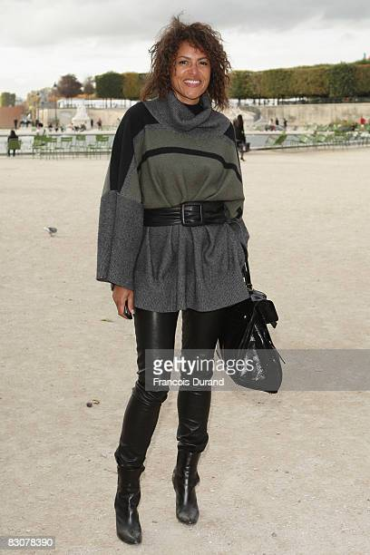 Victor Lazlo arrives at the Christian Lacroix Show during Paris Fashion Week at Espace Ephemere Tuileries on October 1 2008 in Paris France