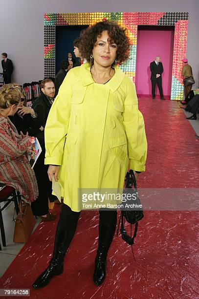 Victor Lazlo attends the Christian Lacroix Haute Couture Spring/Summer 2008 show during Paris Fashion Week at the Pompidou Center January 22 2008 in...