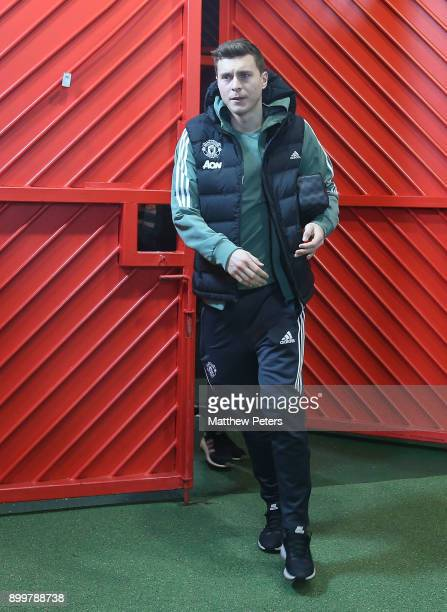Victor Lindelof of Manchester United arrives ahead of the Premier League match between Manchester United and Southampton at Old Trafford on December...