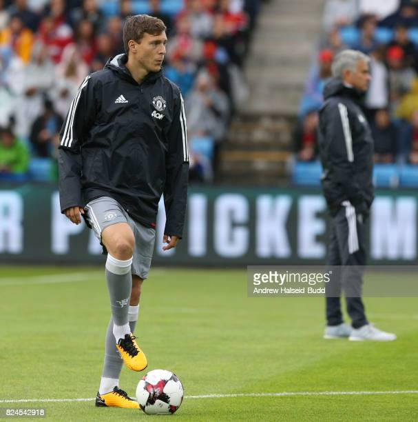 Victor Lindelof of Manchester United before the game against Valerenga today at Ullevaal Stadion on July 30 2017 in Oslo Norway