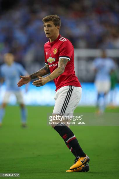 Victor Lindelof of Manchester United during the International Champions Cup 2017 match between Manchester United and Manchester City at NRG Stadium...
