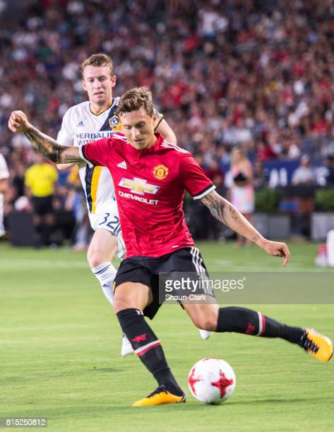 Victor Lindelof of Manchester United during the Los Angeles Galaxy's friendly match against Manchester United at the StubHub Center on July 15 2017...
