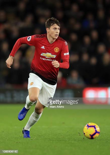 Victor Lindelof of Manchester United during the Premier League match between Cardiff City and Manchester United at Cardiff City Stadium on December...