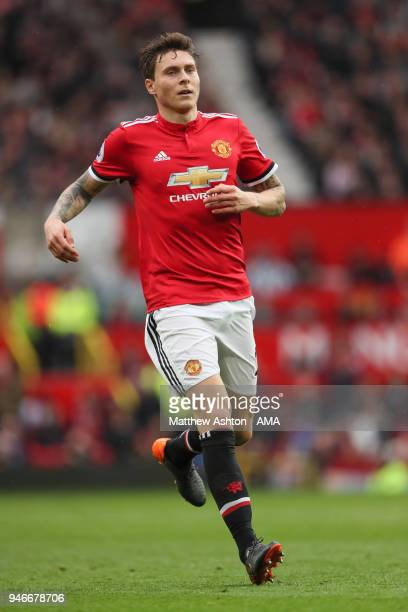 Victor Lindelof of Manchester United during the Premier League match between Manchester United and West Bromwich Albion at Old Trafford on April 15...