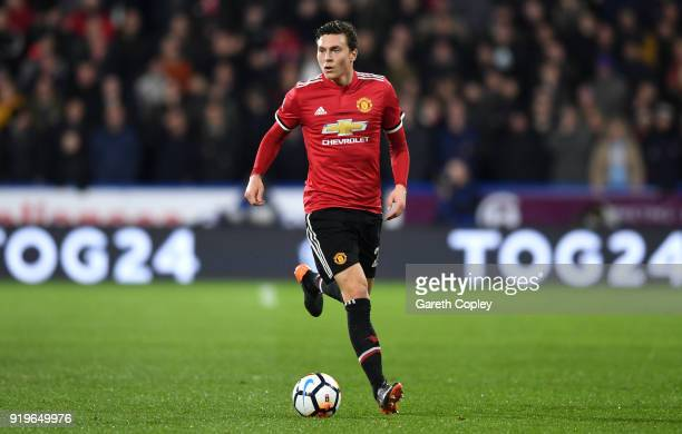 Victor Lindelof of Manchester United during the The Emirates FA Cup Fifth Round match between Huddersfield Town and Manchester United on February 17...