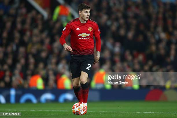 Victor Lindelof of Manchester United during the UEFA Champions League Round of 16 First Leg match between Manchester United and Paris SaintGermain at...