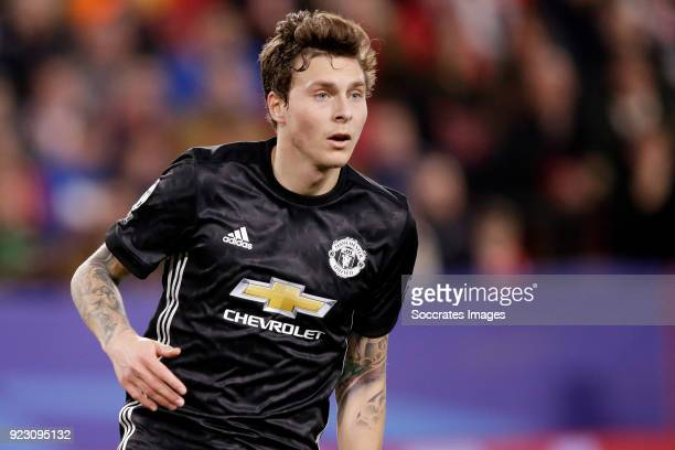 Victor Lindelof of Manchester United during the UEFA Champions League match between Sevilla v Manchester United at the Estadio Ramon Sanchez Pizjuan...