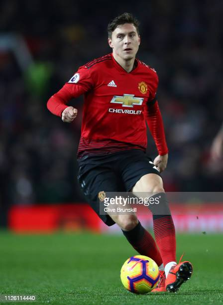 Victor Lindelof of Manchester United in action during the Premier League match between Manchester United and Burnley FC at Old Trafford on January 29...