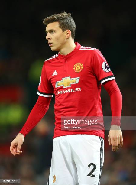 Victor Lindelof of Manchester United looks on during the Premier League match between Manchester United and Southampton at Old Trafford on December...