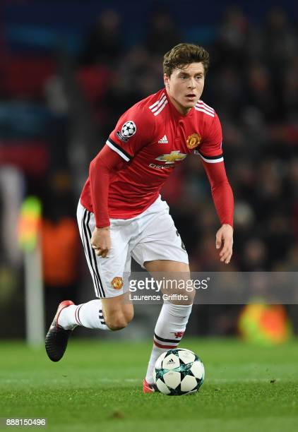 Victor Lindelof of Manchester United runs with the ball during the UEFA Champions League group A match between Manchester United and CSKA Moskva at...