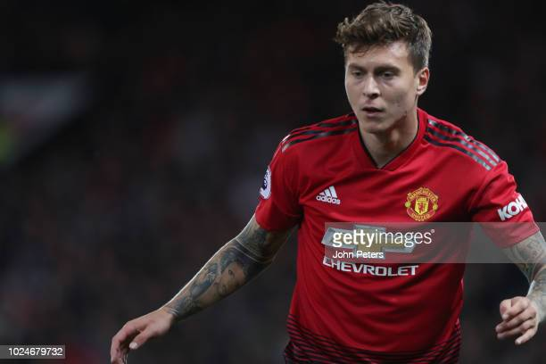 Victor Lindelof of Manchester United watches in action during the Premier League match between Manchester United and Tottenham Hotspur at Old...