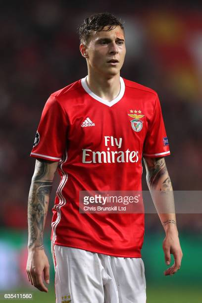 Victor Lindelof of SL Benfica looks on during the UEFA Champions League Round of 16 first leg match between SL Benfica and Borussia Dortmund at...