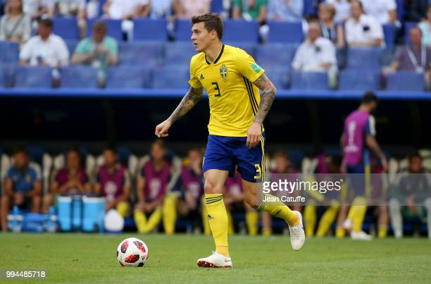 Victor Lindelof of Sweden during the 2018 FIFA World Cup Russia Quarter Final match between Sweden and England at Samara Arena on July 7 2018 in...