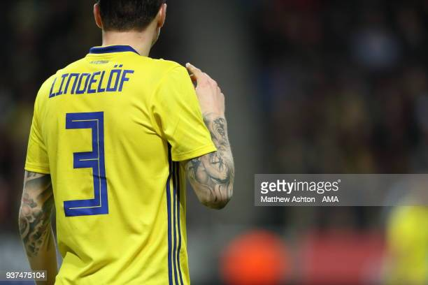 Victor Lindelof of Sweden during the International Friendly match between Sweden and Chile at Friends arena on March 24 2018 in Solna Sweden