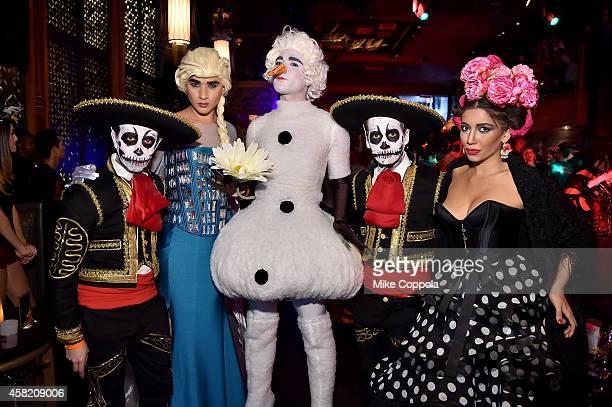 Victor Luna Jesus Estrada Antonio Estrada guest and Designer Irina Shabayeva attend Moto X presents Heidi Klum's 15th Annual Halloween Party...