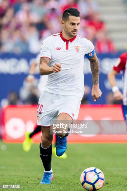 Victor Machin Perez Vitolo of Sevilla FC in action during their La Liga match between Atletico de Madrid and Sevilla FC at the Estadio Vicente...
