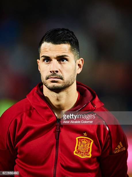 Victor Machin Perez 'Vitolo' of Spain looks on during the FIFA 2018 World Cup Qualifier between Spain and FYR Macedonia at Estadio Nuevos los...