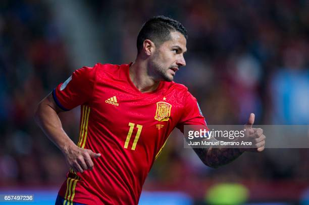 Victor Machin Perez 'Vitolo' of Spain reacts during the FIFA 2018 World Cup Qualifier between Spain and Israel at Estadio El Molinon on March 24 2017...