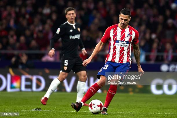 Victor Machin 'Vitolo' of Atletico de Madrid in action during the Copa del Rey Round of 8 first Leg match between Atletico de Madrid and Sevilla FC...