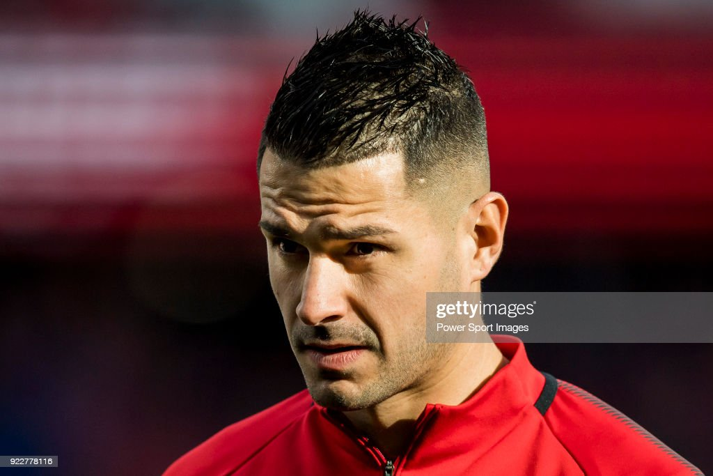 Victor Machin, Vitolo, of Atletico de Madrid warms up prior to the La Liga 2017-18 match between Atletico de Madrid and UD Las Palmas at Wanda Metropolitano on January 28 2018 in Madrid, Spain.