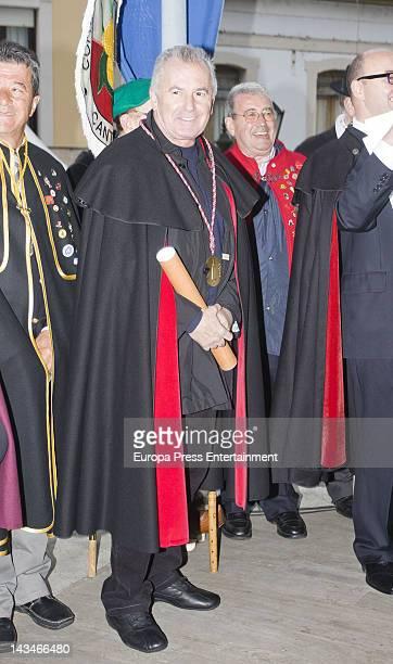 Victor Manuel is named 'Gentleman of the Order of the Sabadiego de Norena' on April 21 2012 in Asturias Spain