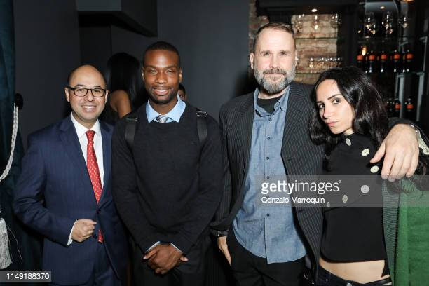 Victor Martinez Donte Walker Richard Ballard and Elizabeth Shafiroff during the Remi Adeleke Book Signing of Transformed Hosted by Jean Shafiroff and...