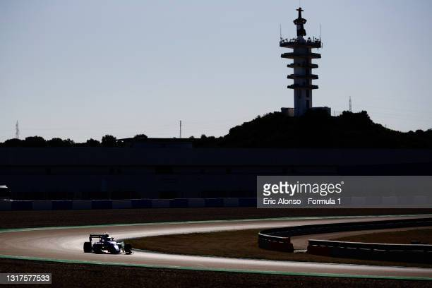 Victor Martins of France and MP Motorsport drives at Circuito de Jerez on May 12, 2021 in Jerez de la Frontera, Spain.