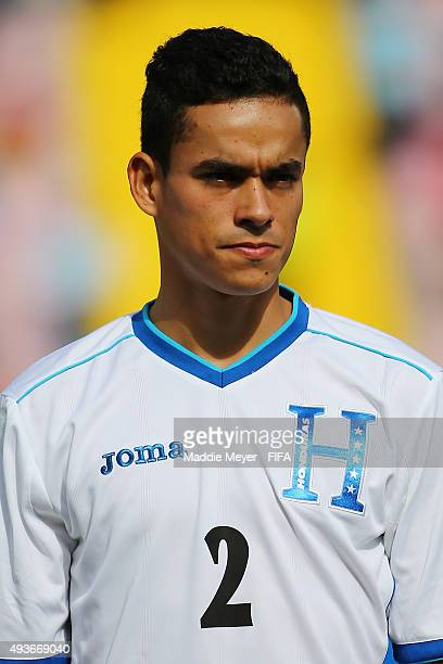 Victor Matamoros of Honduras looks on before the FIFA U17 World Cup Chile 2015 group D match between Belgium and Honduras at Estadio Fiscal on...
