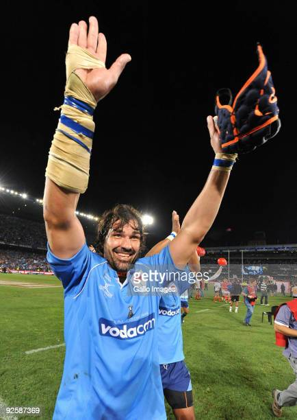 Victor Matfield of the Bulls during the Absa Currie Cup match between Blue Bulls and Free State Cheetahs from Loftus Versfeld on October 31, 2009 in...