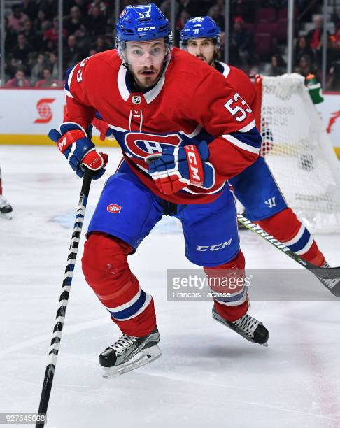Victor Mete of the Montreal Canadiens skates against the Tampa Bay Lightning in the NHL game at the Bell Centre on February 24 2018 in Montreal...