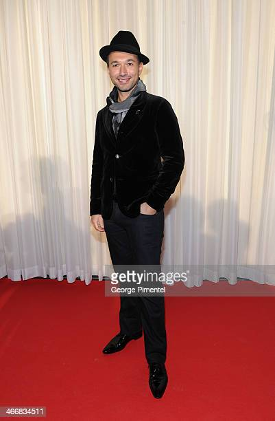 Victor Micallef of the Canadian Tenors attends the 2014 Juno Awards Nominee Press Conference at The Design Exchange on February 4 2014 in Toronto...
