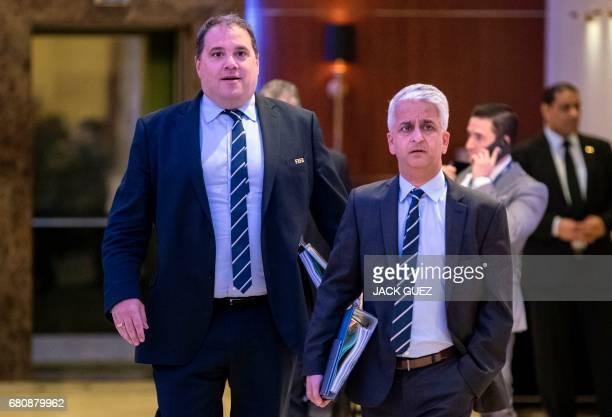 Victor Montagliani President of the Canadian Football Federation and President of CONCAF and Sunil Gulati President of the United States Football...