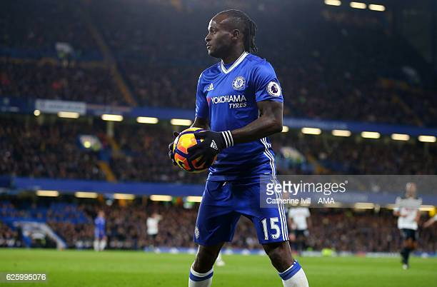 Victor Moses of Chelsea during the Premier League match between Chelsea and Tottenham Hotspur at Stamford Bridge on November 26 2016 in London England