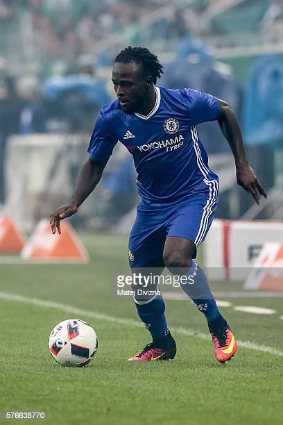Victor Moses of Chelsea in action during an friendly match between SK Rapid Vienna and Chelsea FC at Allianz Stadion on July 16 2016 in Vienna Austria