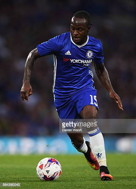 Victor Moses of Chelsea in action during the EFL Cup second round match between Chelsea and Bristol Rovers at Stamford Bridge on August 23 2016 in...