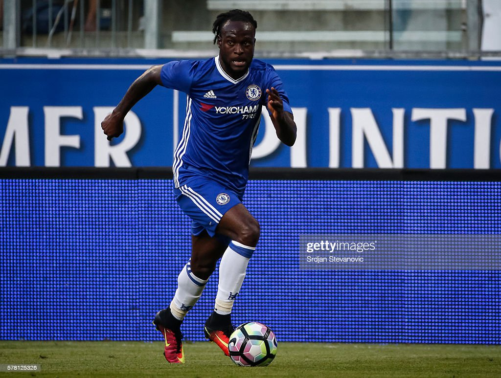 Victor Moses of Chelsea in action during the friendly match between WAC RZ Pellets and Chelsea F.C. at Worthersee Stadion on July 20, 2016 in Velden, Austria.