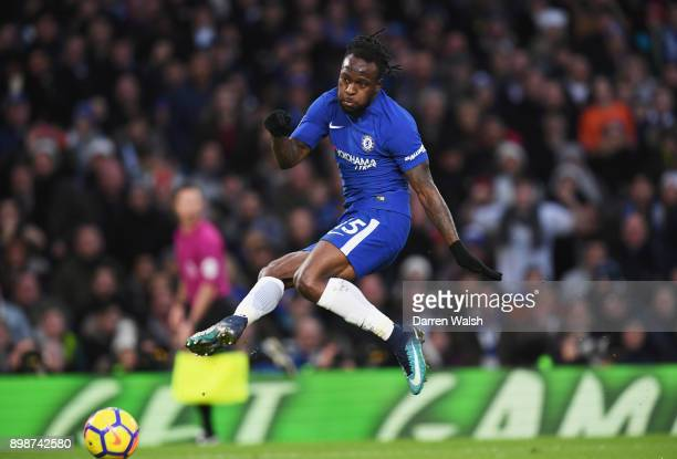 Victor Moses of Chelsea misses a chance during the Premier League match between Chelsea and Brighton and Hove Albion at Stamford Bridge on December...