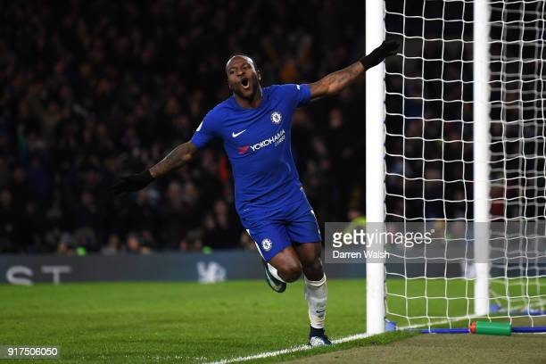 Victor Moses of Chelsea scores his sides second goal during the Premier League match between Chelsea and West Bromwich Albion at Stamford Bridge on...