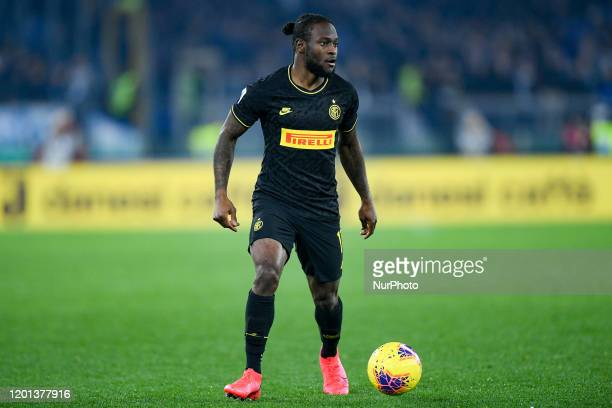 Victor Moses of FC Internazionale during the Serie A match between Lazio and FC Internazionale at Stadio Olimpico Rome Italy on 16 February 2020
