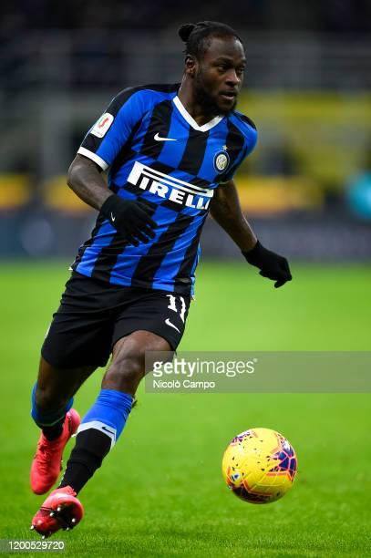 Victor Moses of FC Internazionale in action during the Coppa Italia semi final football match between FC Internazionale and SSC Napoli SSC Napoli won...