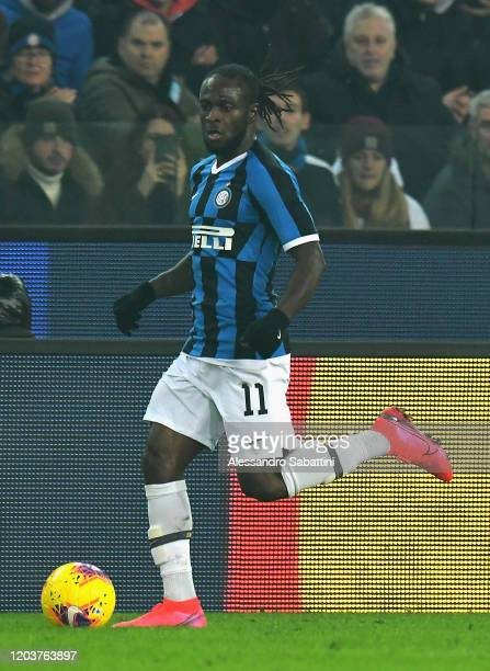 Victor Moses of FC Internazionale in action during the Serie A match between Udinese Calcio and FC Internazionale at Stadio Friuli on February 2 2020...