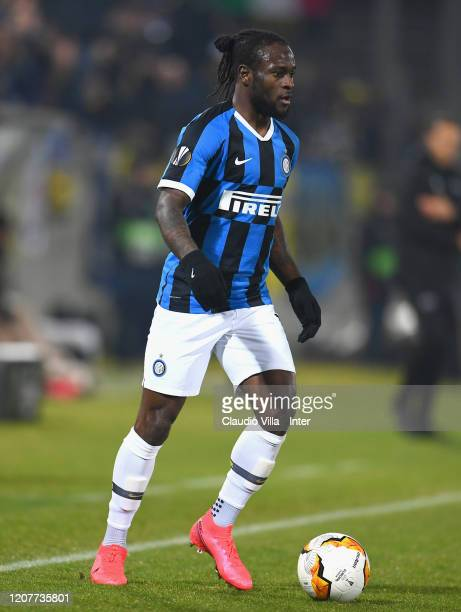Victor Moses of FC Internazionale in action during the UEFA Europa League round of 16 first leg match between PFC Ludogorets Razgrad and FC...