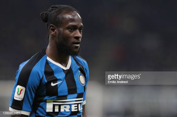 Victor Moses of FC Internazionale looks on during the Coppa Italia Semi Final match between FC Internazionale and SSC Napoli at Stadio Giuseppe...