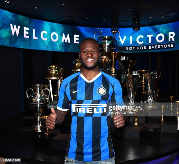Victor Moses of FC Internazionale poses for a photo at FC Internazionale HQ on January 21 2020 in Milan Italy